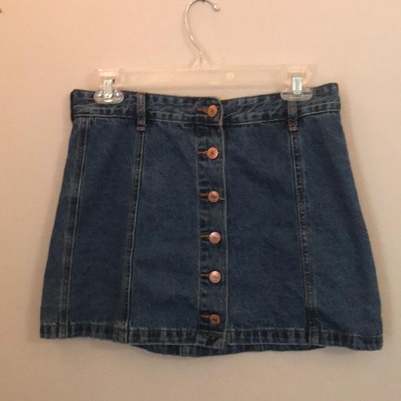 Forever 21 Dresses & Skirts - Forever 21 jean skirt, front button up